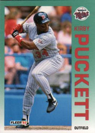 1992 Fleer #217 Kirby Puckett VG Minnesota Twins