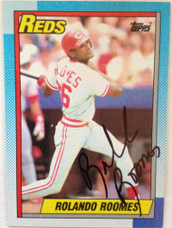 Rolando Roomes  Autographed 1990 Topps #364 Black Ink