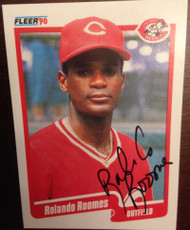 Rolando Roomes Autographed 1990 Fleer #432 Signed in Black