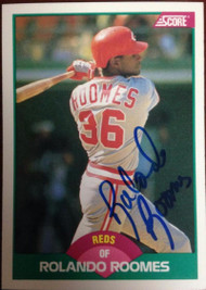 Rolando Roomes Autographed 1989 Score Traded #109T