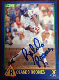 Rolando Roomes Autographed 1989 Score Rising Star #37
