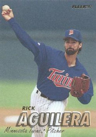 1997 Fleer #142 Rick Aguilera VG Minnesota Twins