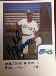 Rolando Roomes Autographed 1986 Pro Cards