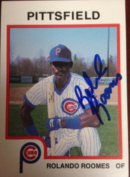 Rolando Roomes Autographed 1987 Pro Cards #347