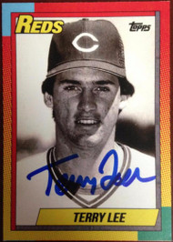 Terry Lee Autographed 1990 Topps Style Custom Card 2