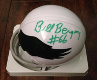 Bill Bergey Autographed Philadelphia Eagles Mini Helmet ID: 2687