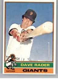 1976 Topps #54 Dave Rader VG San Francisco Giants