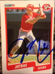 SOLD 2709 Jeff Reed Autographed 1990 Fleer #429