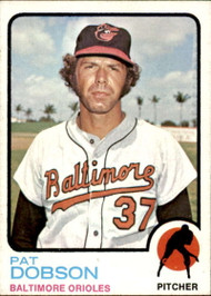 1973 Topps #34 Pat Dobson VG Baltimore Orioles