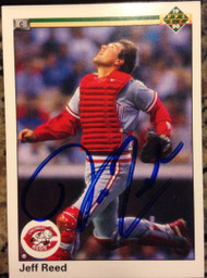 Jeff Reed Autographed 1990 Upper Deck #165