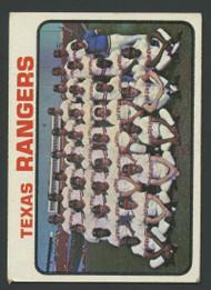 1973 Topps #7 Rangers Team VG Texas Rangers