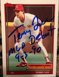Terry Lee Autographed 1991 Topps Debut 1990 #83