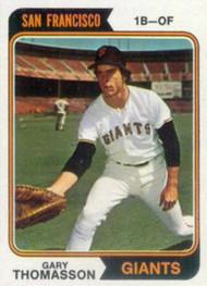1974 Topps #18 Gary Thomasson VG RC Rookie San Francisco Giants