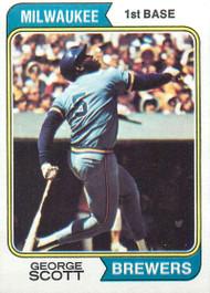 1974 Topps #27 George Scott VG Milwaukee Brewers