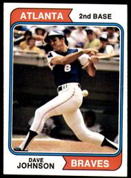 1974 Topps #45 Dave Johnson VG Atlanta Braves