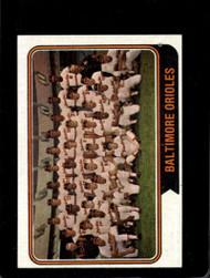 1974 Topps #16 Orioles Team VG Baltimore Orioles