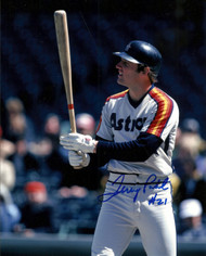 Terry Puhl Autographed Astros 8 x 10 Photo