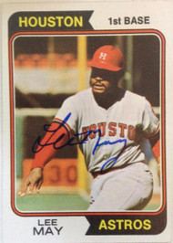 Lee May Autographed 1974 Topps #500