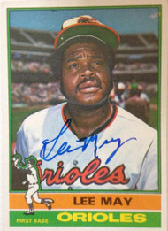 Lee May Autographed 1976 Topps #210