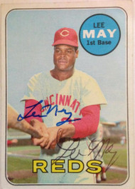 SOLD 2769 Lee May Autographed 1969 Topps #405