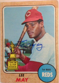 Lee May Autographed 1968 Topps #487