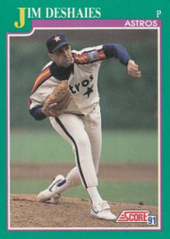 1991 Score #193 Jim Deshaies VG Houston Astros