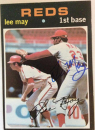Lee May Autographed 1971 Topps #40