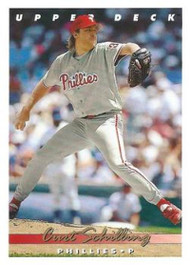 1993 Upper Deck #67 Curt Schilling VG Philadelphia Phillies