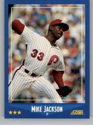 1988 Score #144 Mike Jackson VG RC Rookie Philadelphia Phillies