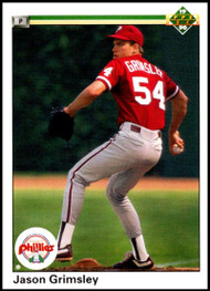 1990 Upper Deck #27 Jason Grimsley VG RC Rookie Philadelphia Phillies
