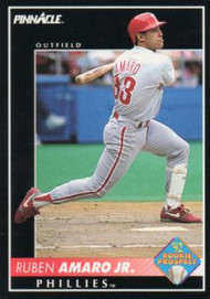 1992 Pinnacle #570 Ruben Amaro VG Philadelphia Phillies