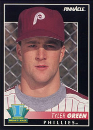 1992 Pinnacle #303 Tyler Green VG RC Rookie Philadelphia Phillies