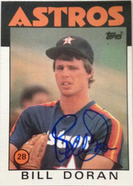 Bill Doran Autographed 1986 Topps #57