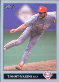 1992 Leaf #292 Tommy Greene VG Philadelphia Phillies