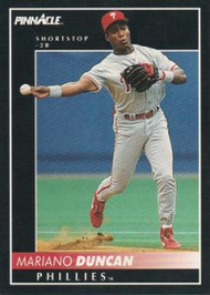 1992 Pinnacle #377 Mariano Duncan VG Philadelphia Phillies