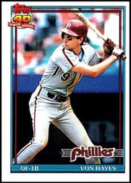 1991 Topps #15 Von Hayes VG Philadelphia Phillies