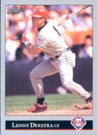 1992 Leaf #504 Lenny Dykstra VG Philadelphia Phillies