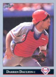 1992 Leaf #335 Darren Daulton VG Philadelphia Phillies