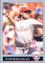 1992 Leaf #516 Curt Schilling VG Philadelphia Phillies