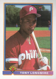 1991 Bowman #489 Tony Longmire VG RC Rookie Philadelphia Phillies