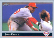 1992 Leaf #313 John Kruk VG Philadelphia Phillies