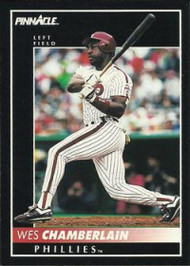 1992 Pinnacle #36 Wes Chamberlain VG Philadelphia Phillies