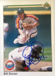 Bill Doran Autographed 1990 Upper Deck #198
