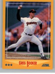 1988 Score #447 Greg Booker VG San Diego Padres