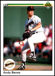 1990 Upper Deck #55 Andy Benes UER VG San Diego Padres