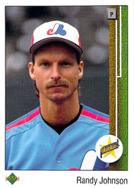 1989 Upper Deck #25 Randy Johnson VG RC Rookie Montreal Expos