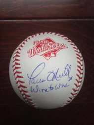 "SOLD 2846 Paul O'Neill ""Wire to Wire"" Autographed Rawlings Official 1990 World Series Baseball"