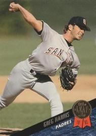 1993 Leaf #82 Greg Harris VG San Diego Padres