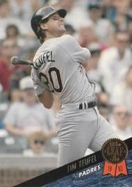 1993 Leaf #10 Tim Teufel VG San Diego Padres
