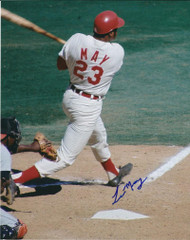 Lee May Autographed Reds 8 x 10 Photo 3